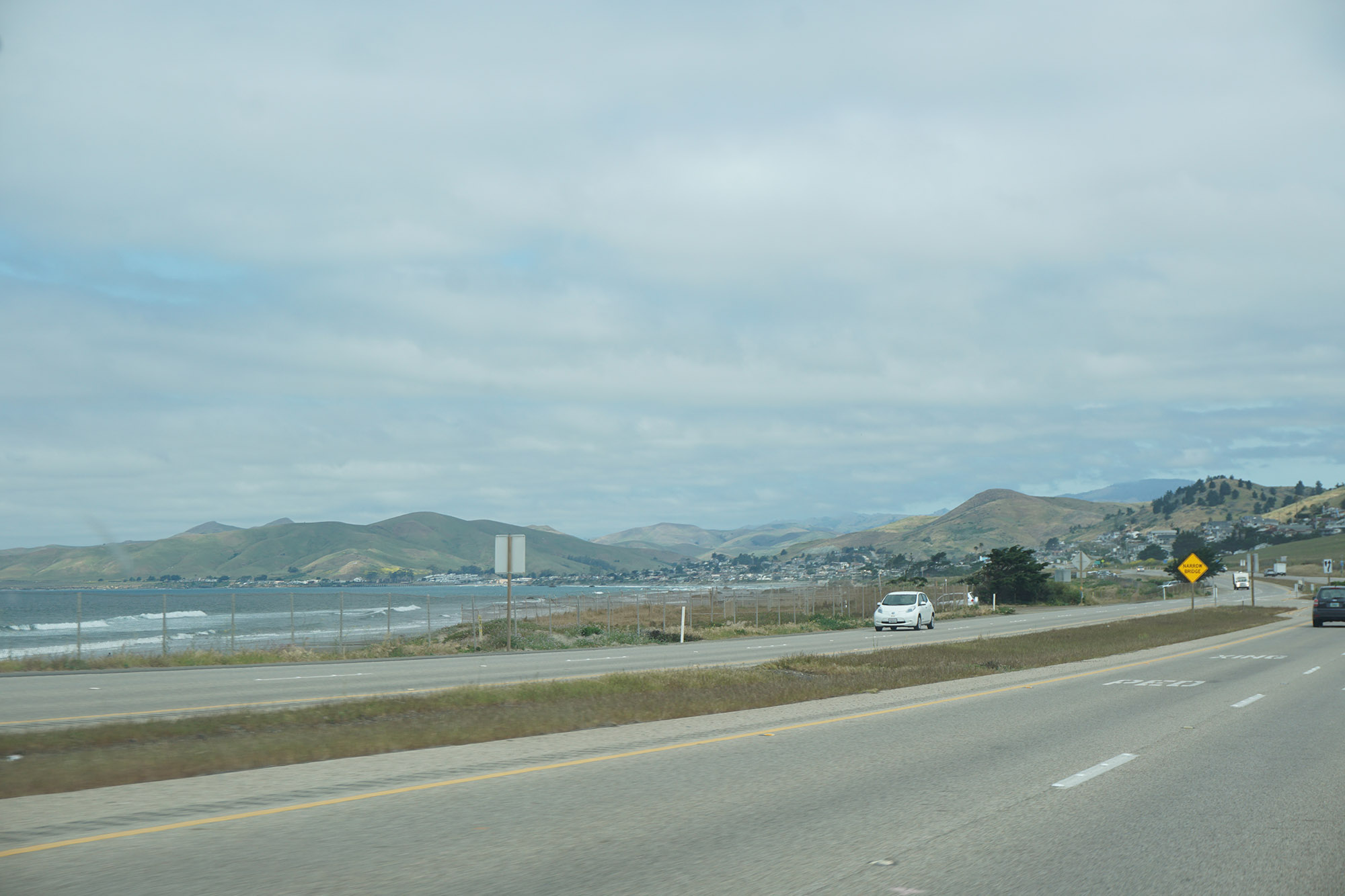 Hitting the open road near Cayucos